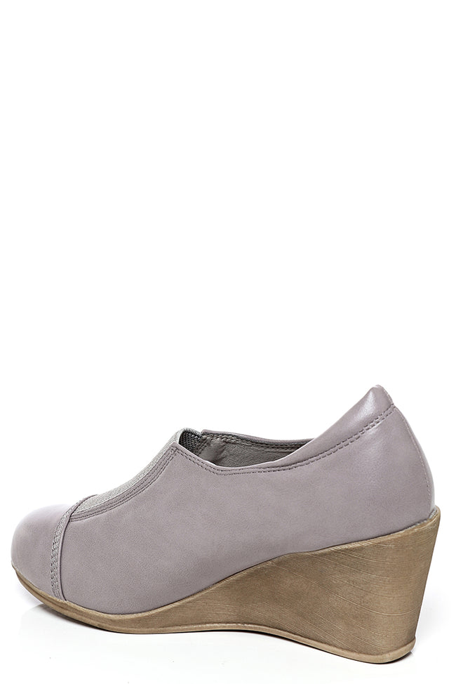 Grey Wedge Boots-Fabulous Bargains Galore
