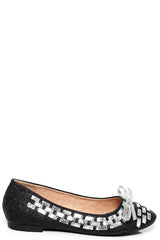 Bow Ballet Flats in Black