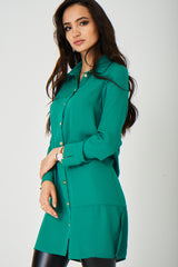 Jothirty Green Shirt Dress