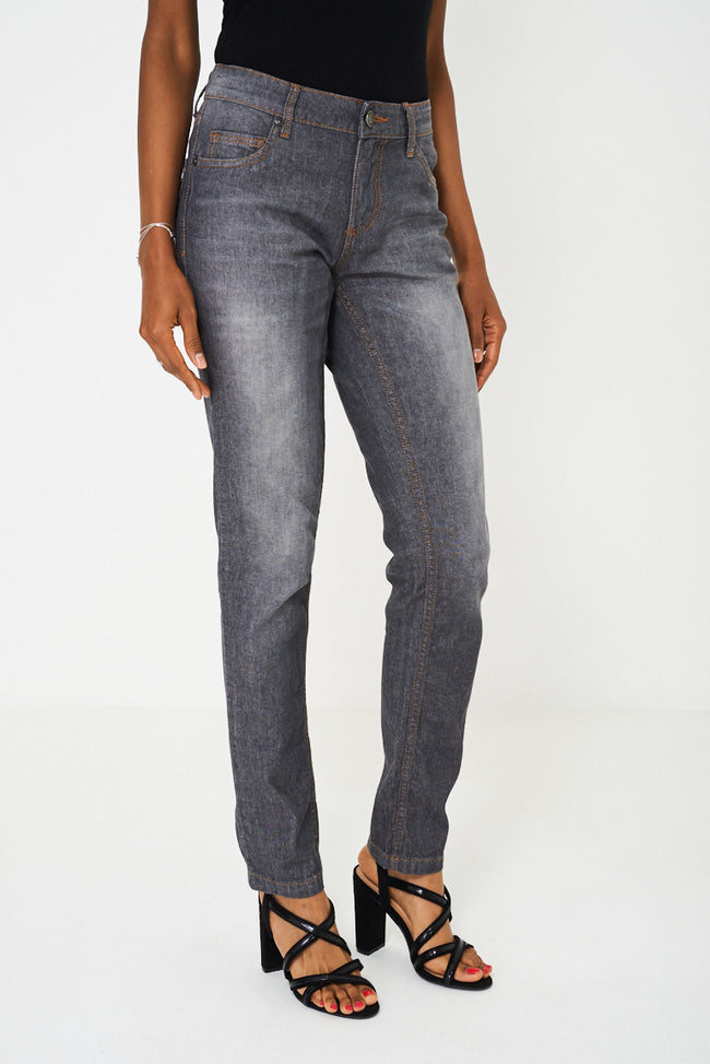 Slim Fit Jeans In Grey Wash-Fabulous Bargains Galore