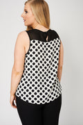 Black And Cream Sleeveless Top-Fabulous Bargains Galore