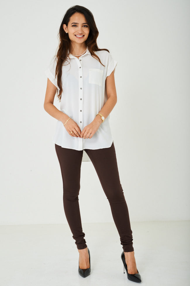 Longline Shirt in Off-White-Fabulous Bargains Galore