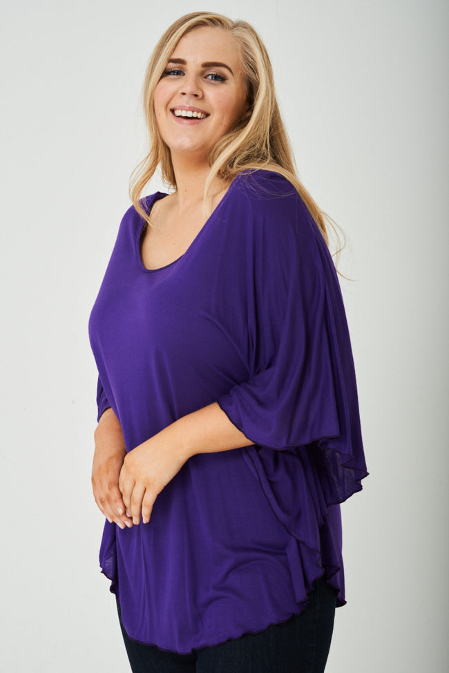 PLUS SIZE Lightweight Top in Purple-Fabulous Bargains Galore