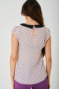 Printed Chiffon Top in Pink-Fabulous Bargains Galore