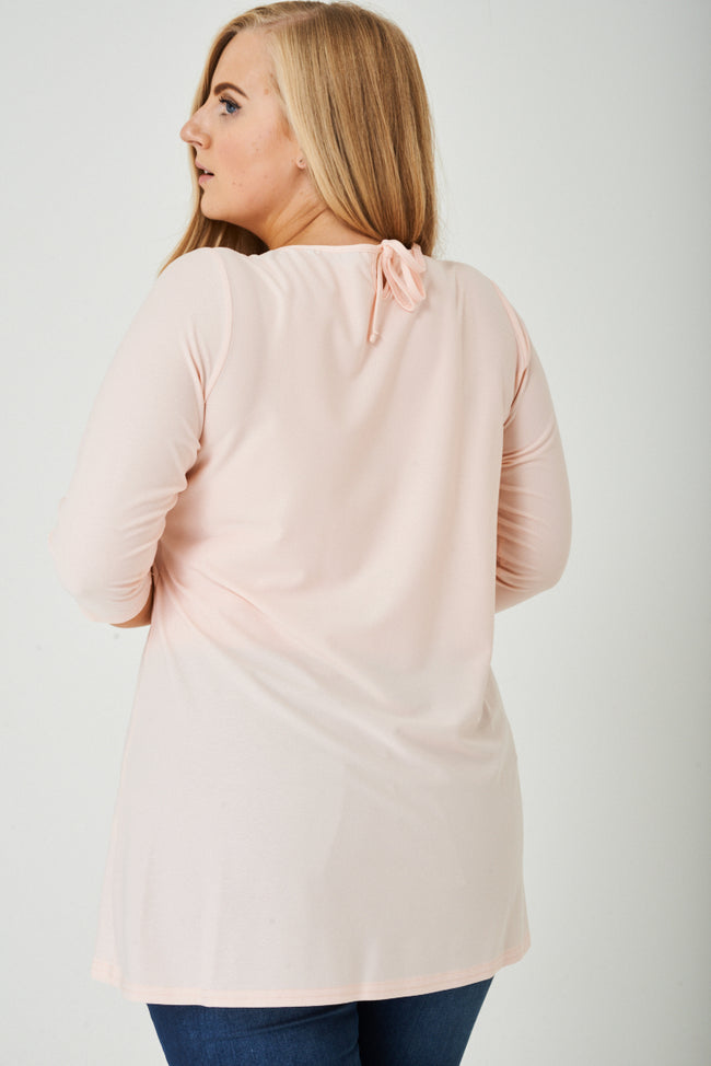 PLUS SIZE Light Pink Tunic Top-Fabulous Bargains Galore