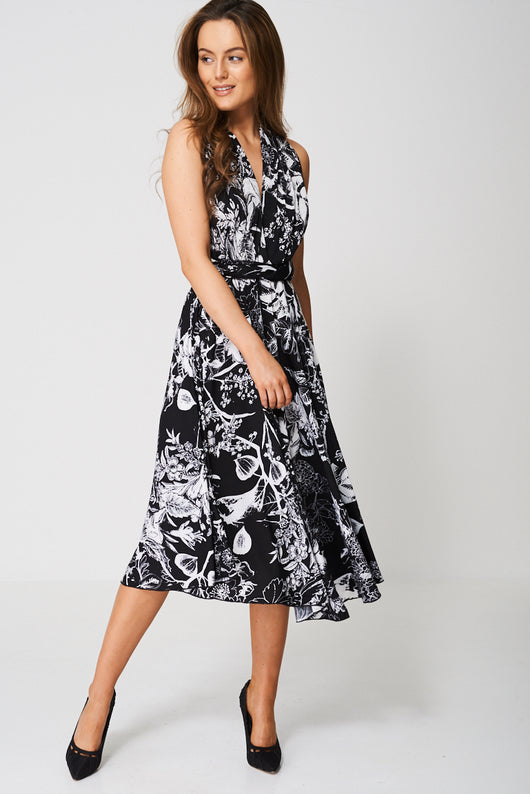 Floral Convertible Dress-Fabulous Bargains Galore