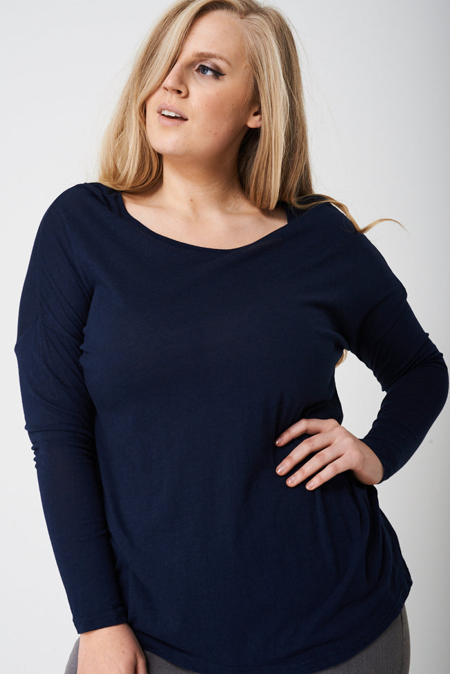 PLUS BASIC Long Sleeve Top Ex-Branded-Fabulous Bargains Galore