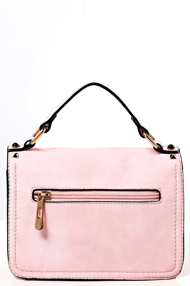Studded Crossbody Bag in Sweet Pink-Fabulous Bargains Galore