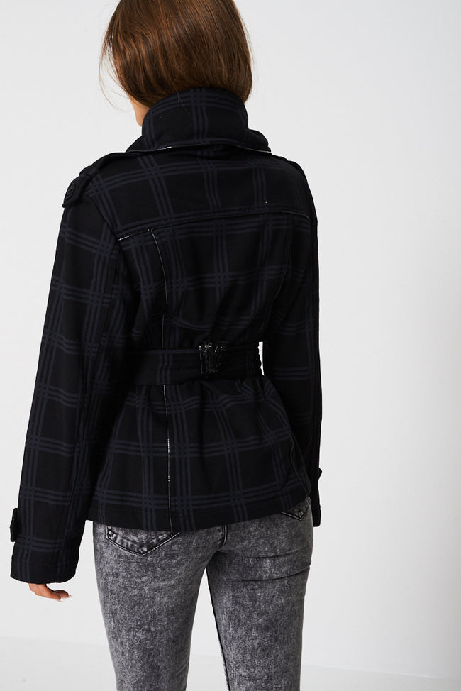 Jacket In Check Print Ex-Branded-Fabulous Bargains Galore