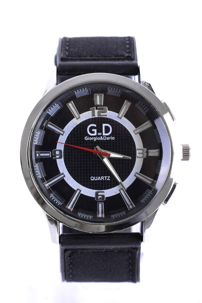 Black Dial Rubber Strap Unisex Watch-Fabulous Bargains Galore
