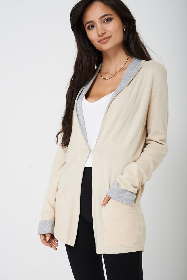 Soft Touch Long Cardigan in Beige-Fabulous Bargains Galore