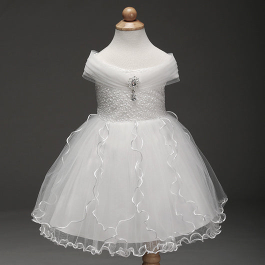 Little Princess White Flower Girl Dress-Fabulous Bargains Galore