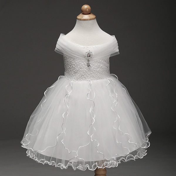 Little Princess White Flower Girl Dress