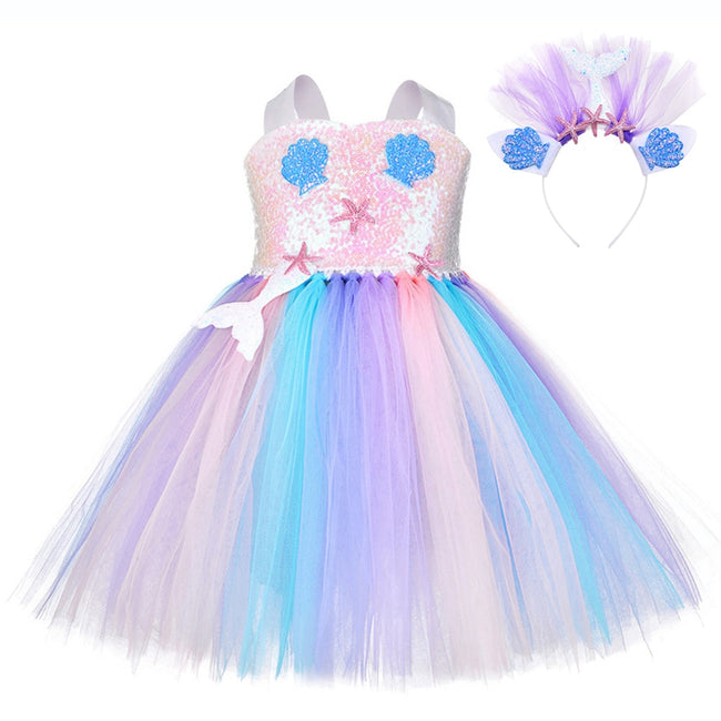 Little girl mermaid dresses up to age 12 years-Fabulous Bargains Galore