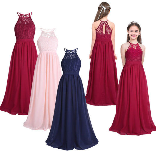 044a40cc21dba Long chiffon navy flower girl dresses – Fabulous Bargains Galore