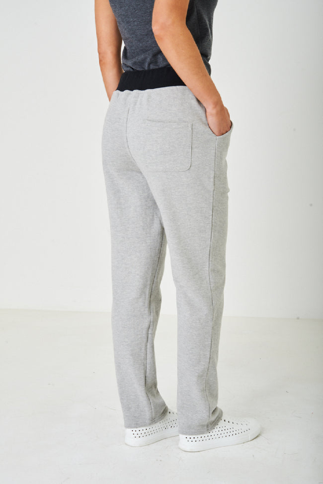Active Light Grey Straight Trousers-Fabulous Bargains Galore