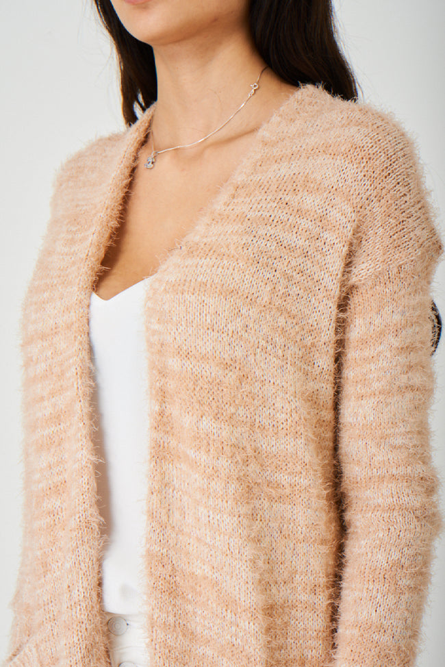 Pink Fluffy Longline Cardigan Ex Brand-Fabulous Bargains Galore