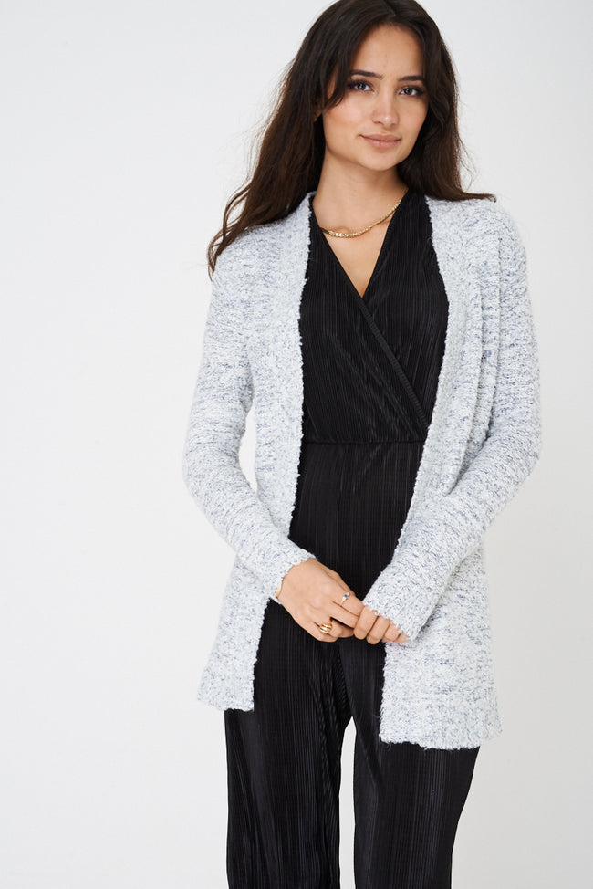 Open Front Cardigan in Mixed Yarn Ex Brand-Fabulous Bargains Galore