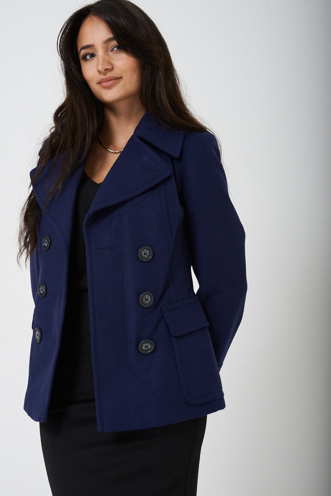Navy Double Breasted Peacoat Ex Brand-Fabulous Bargains Galore