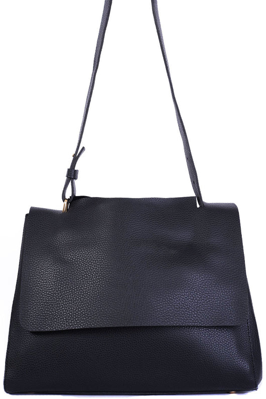 Black Faux Leather Bag-Fabulous Bargains Galore