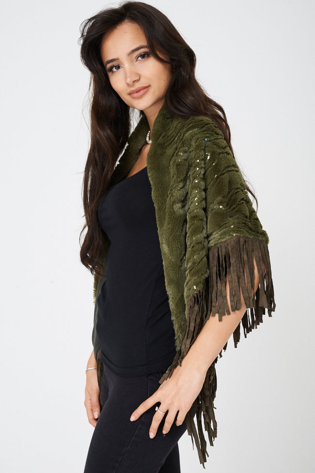 Fringe Scarf in Green-Fabulous Bargains Galore