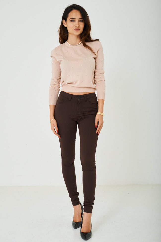 Super Skinny Jeans in Brown-Fabulous Bargains Galore