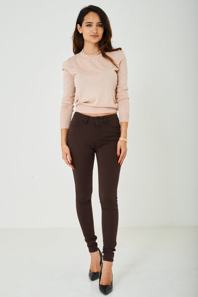 Super Skinny Jeans in Brown