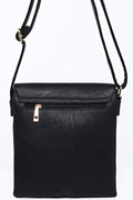 Black Crossbody Bag with Gold Detail-Fabulous Bargains Galore
