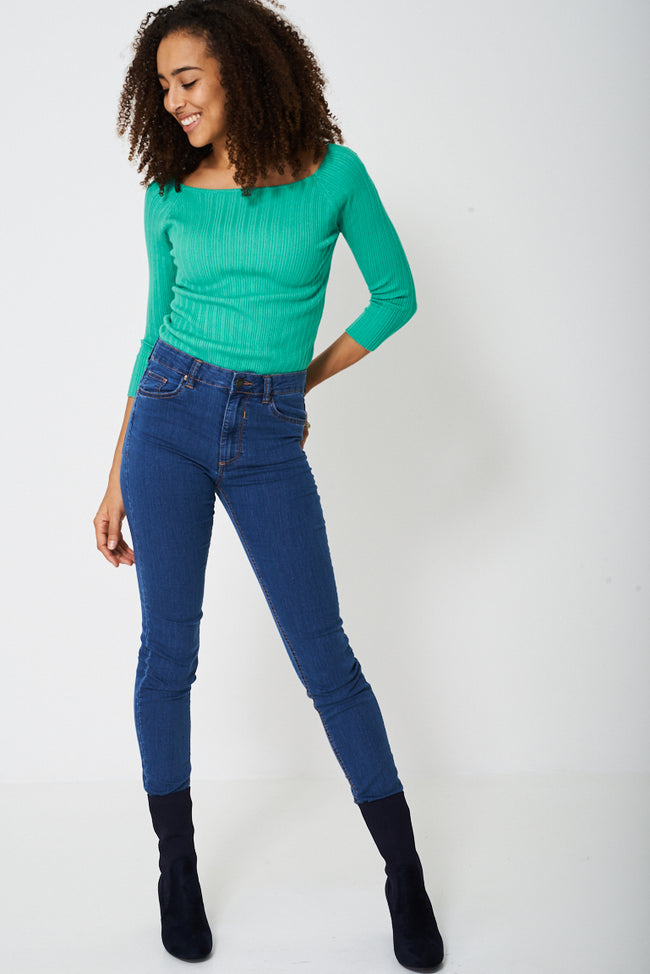 Casual Jeans with Contrast Stitching-Fabulous Bargains Galore