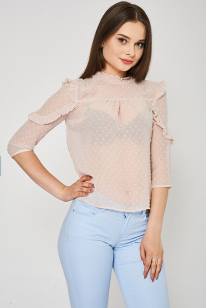 Victorian Chiffon Top Ex-Branded Available In Plus Sizes