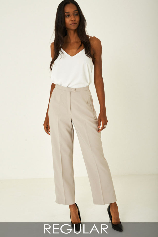 80's Inspired Wide Leg Tailored Trousers-Fabulous Bargains Galore