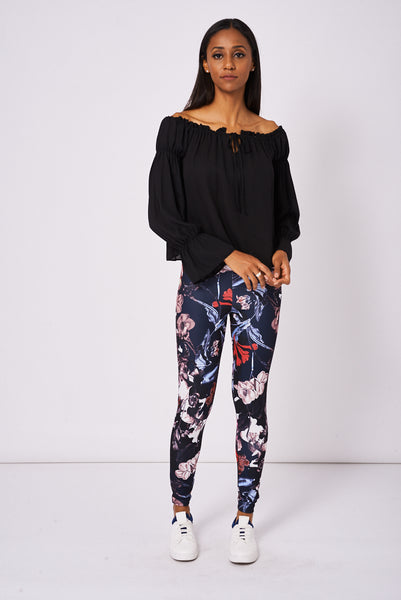 Slim Fit Leggings In Floral Print Ex-Branded