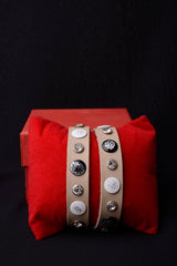Vintage Inspired Leather Studded Bangle