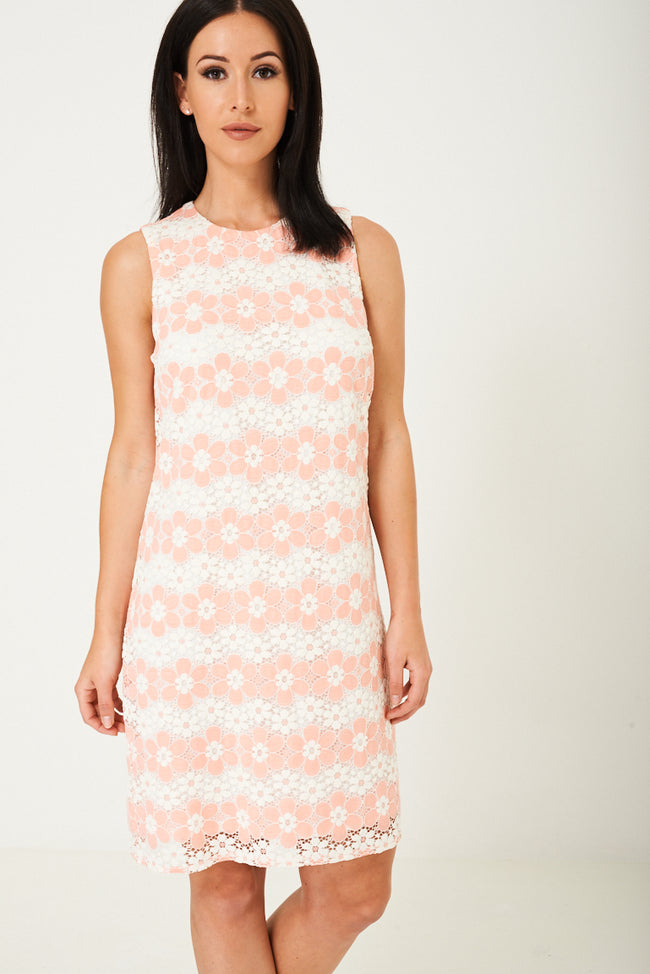 Midi Dress in Floral Lace Ex Brand-Fabulous Bargains Galore