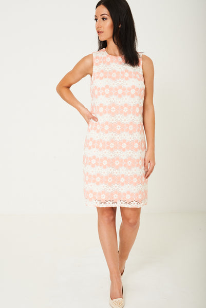 Midi Dress in Floral Lace Ex Brand