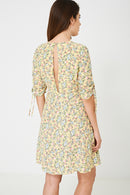 Yellow Sun Dress In Vintage Floral Ex Brand-Fabulous Bargains Galore