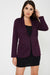 Longline Purple Tailored Blazer - Fabulous Bargains Galore
