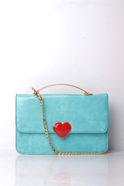 Crossbody Handbag With Heart Detail