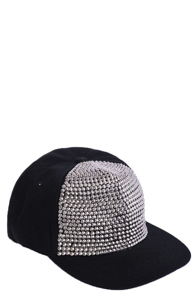 Studded Cap in Silver