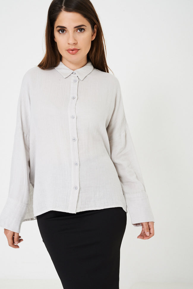Oversized Grey Shirt Ex Brand-Fabulous Bargains Galore