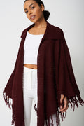 Poncho With Tassel Detail Ex-Branded-Fabulous Bargains Galore