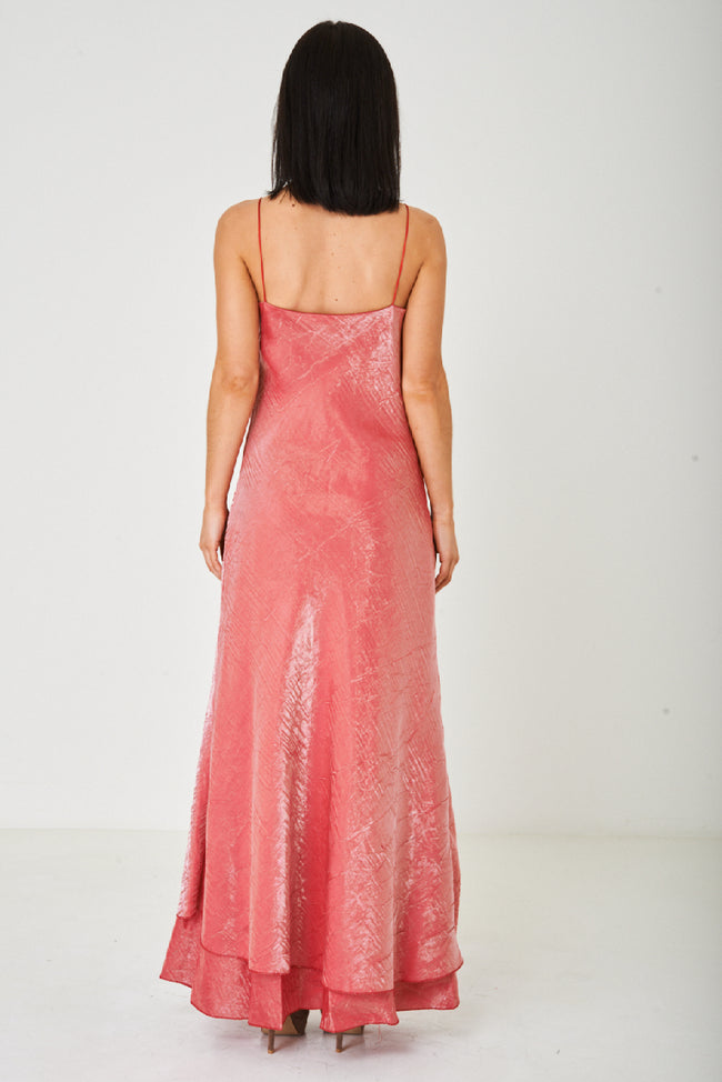 Rose Red Fishtail Maxi Dress-Fabulous Bargains Galore
