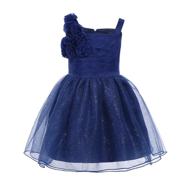 Navy blue flower girl dresses toddler-Fabulous Bargains Galore
