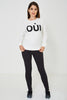 BIK BOK White Slogan Jumper