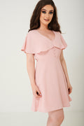 Pink Skater Dress With Ruffle Layer Ex Brand-Fabulous Bargains Galore