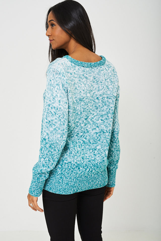 Chunky Jumper In Ombre Ex-Branded-Fabulous Bargains Galore