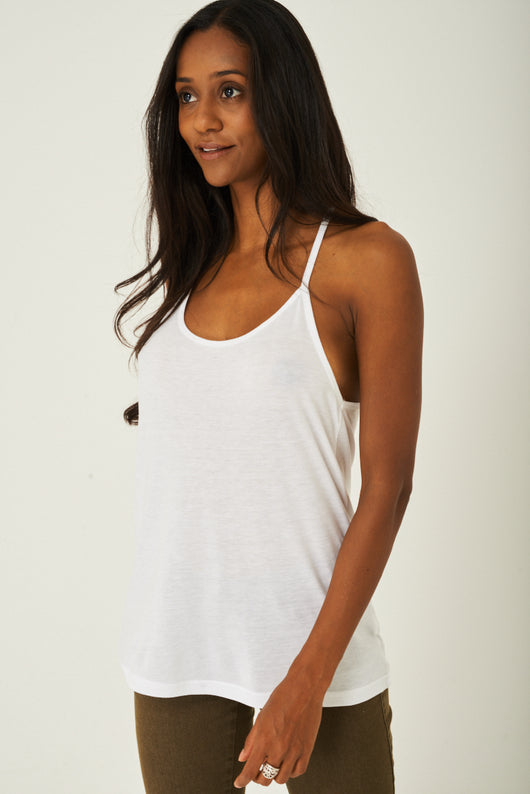 Cami Top in White-Fabulous Bargains Galore
