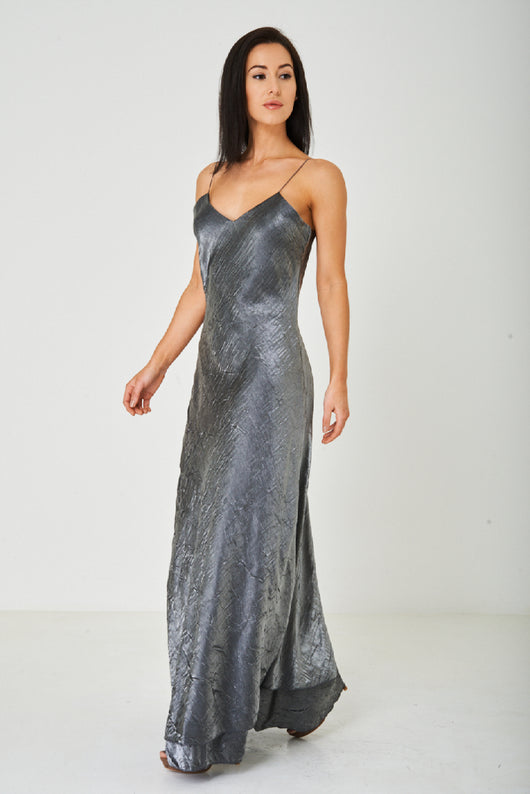 Grey Fishtail Maxi Dress-Fabulous Bargains Galore