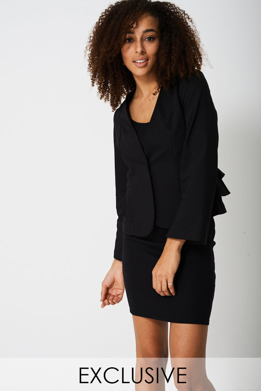 Exclusive Collection Frill Blazer Ex-Branded-Fabulous Bargains Galore