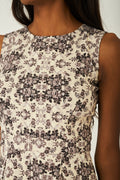 Vintage Floral Pleated Skater Dress-Fabulous Bargains Galore